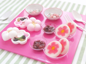 decorative mochi - Japanese dessert - how to make mochi