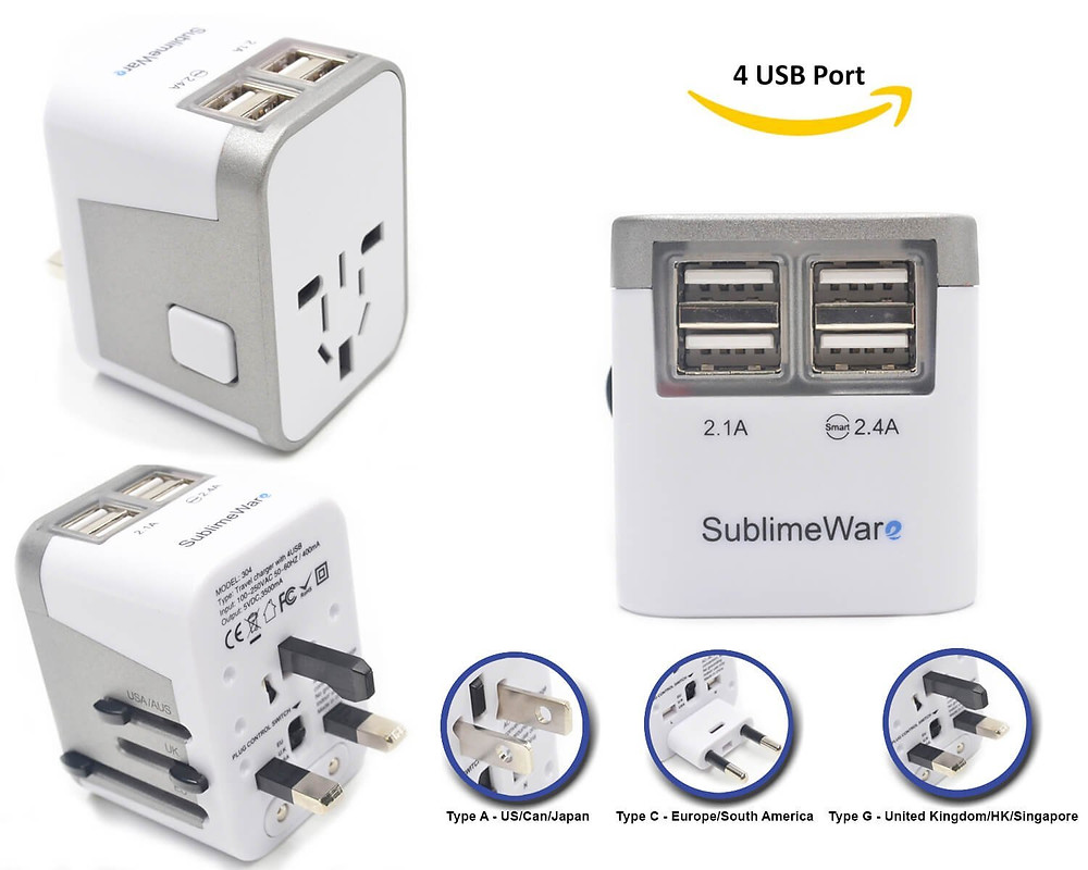 Universal Power Plug Adapter With USB