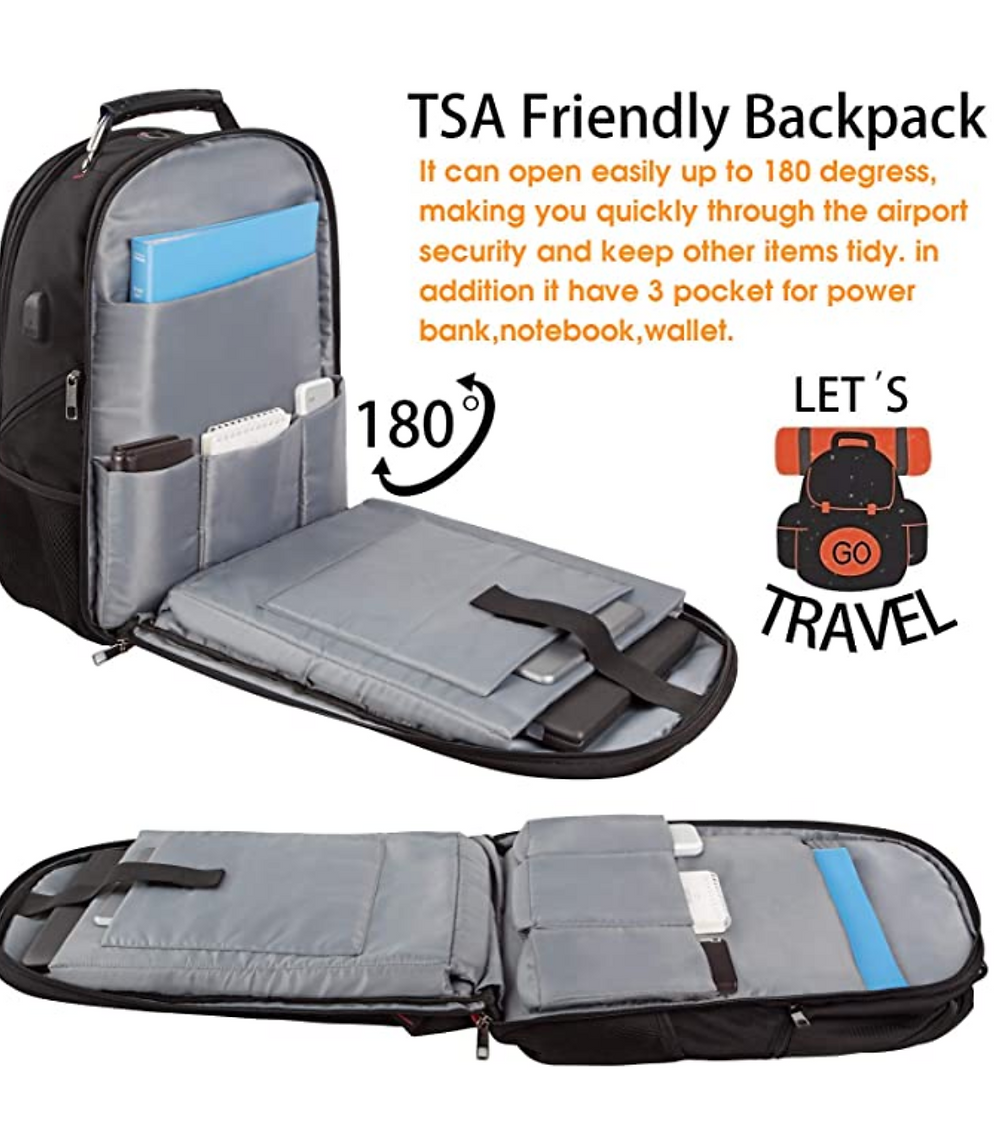 Ltinvek TSA Friendly backpack with front laptop sleeve