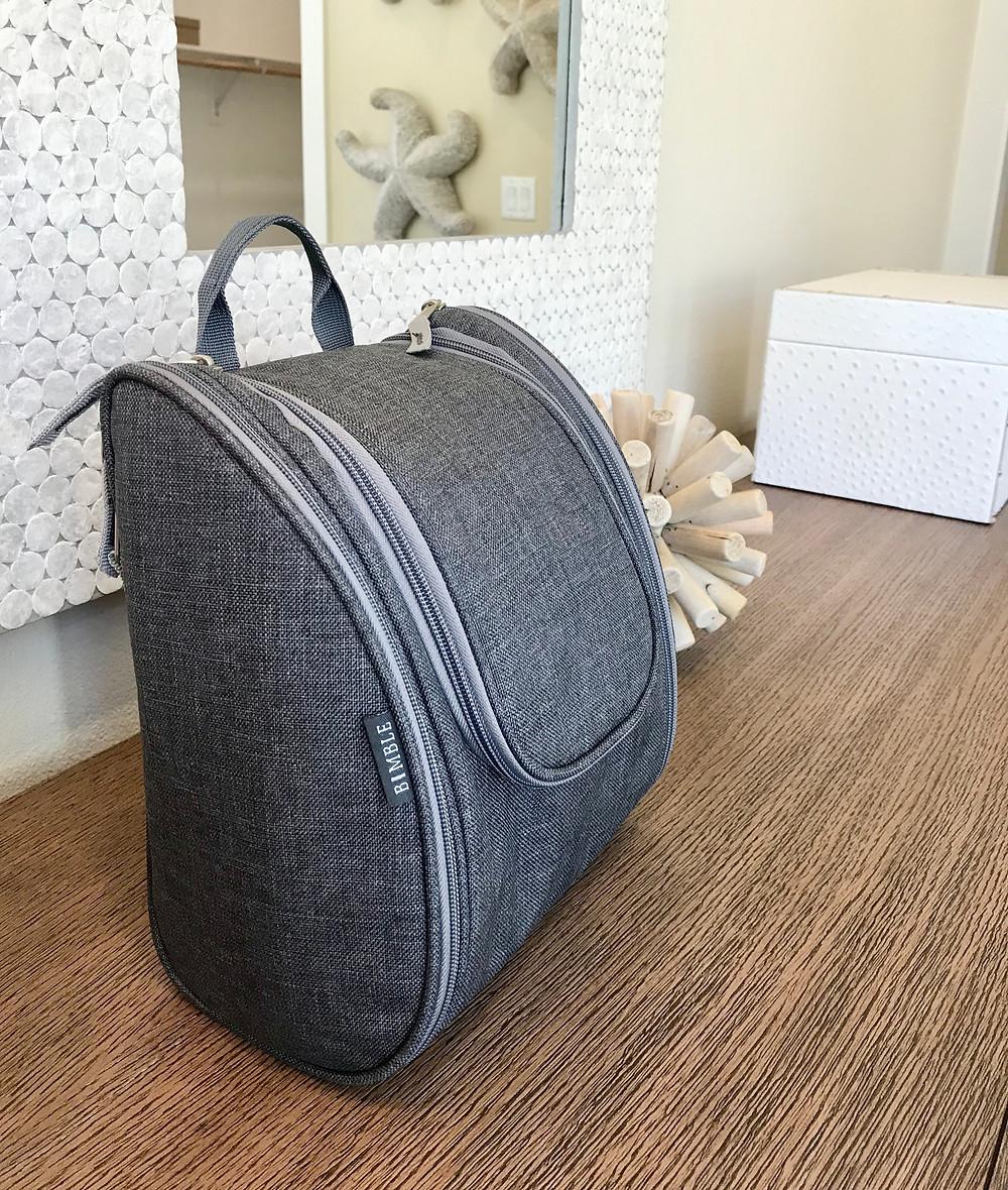 BIMBLE grey toiletry bag