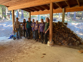 Service Project - Stacking Wood for a Ne