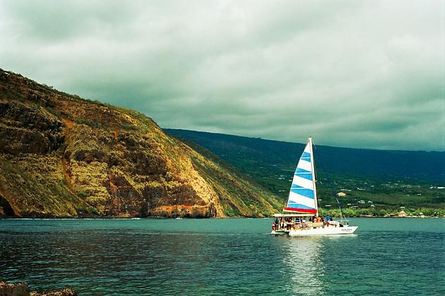 Blue Striped Sail