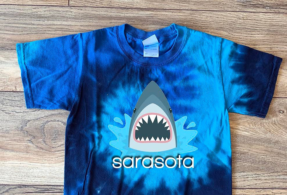 Sarasota Shark Bite Tie-Dye Shirt