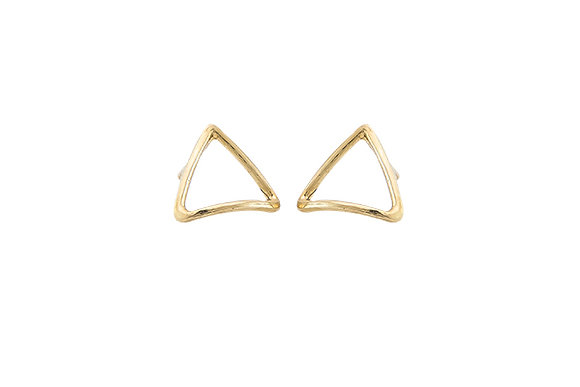 Aretes Tiny Geometric Triangle Gold