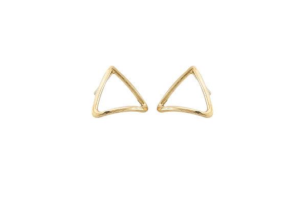 Aretes Tiny Geometric Triangle Gold