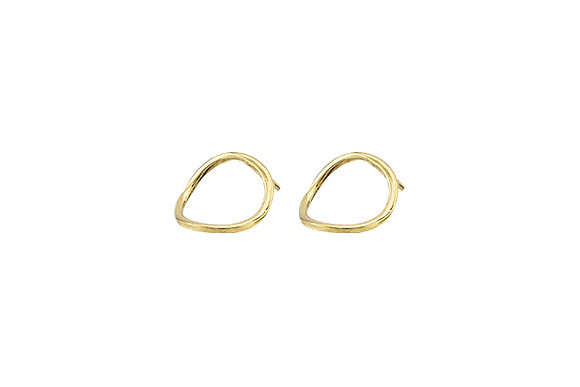 Aretes Tiny Geometric Circle Gold