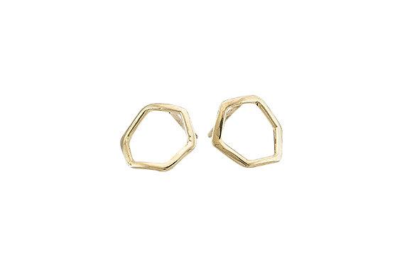 Aretes Tiny Geometric Rombo Gold