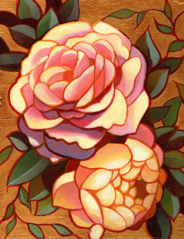 Rose and peony