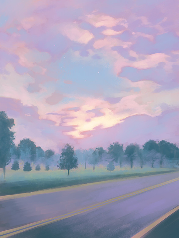 Sunset at Stony