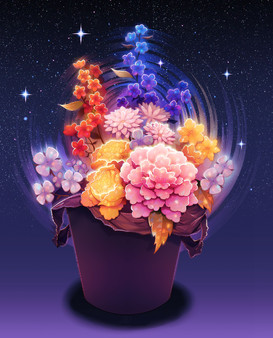 Flowers in a trash can