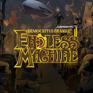 Democritus Brand and the Endless Machine Logo