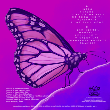 BTWEEN The Butterfly Album Back Cover