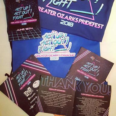 2018 Pridefest Promotional Materials