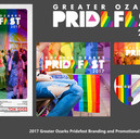 2017 Greater Ozarks Pridefest Branding a