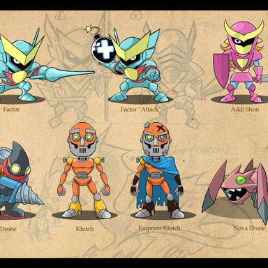 Unused Character Designs for Game Pitch