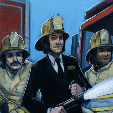 The Bank of Missouri Ad Campaign Firefighter