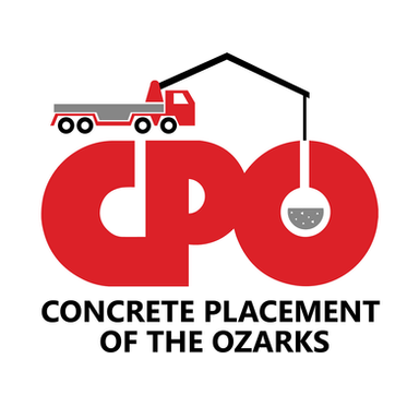 Concrete Placement of the Ozarks Logo