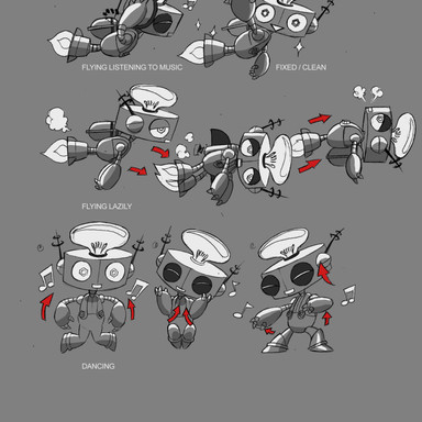 Geo Team Tidy Bot Animation States