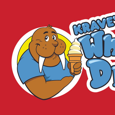 Craves Whips n Dips MASCOT Krave the Walrus