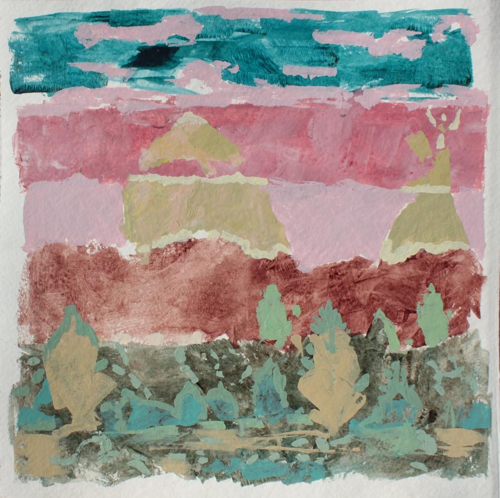 nasha 69 x 69 cm Acryl auf Papier