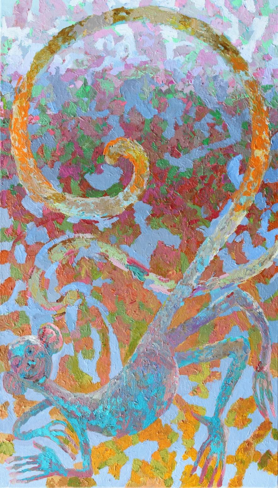 Michel,  Acryl auf Leinwand 80 x 140 cm