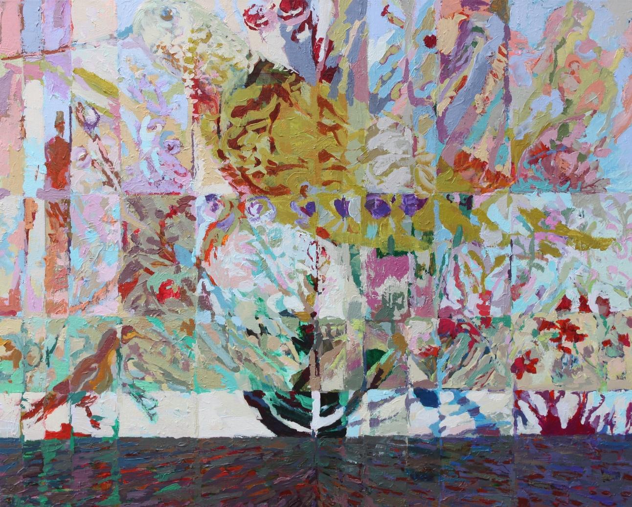 Aufbruch,  Acryl auf Leinwand 160 x 130