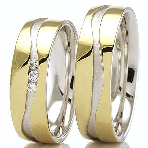 Eheringe-333,-Gelbgold-Weissgold-66-34070-080-Honeymoon-Solid-II-von-Collection-Ruesch-77319545
