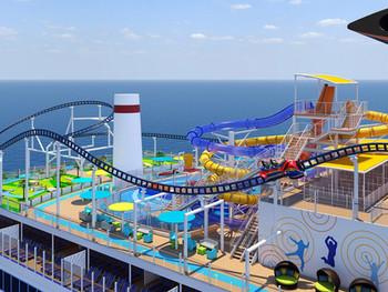 La montaña rusa BOLT del Carnival Cruises fue nombrada la atracción de cruceros más innovadora