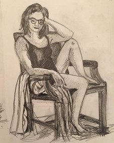Seated Female from Life Drawing Group 2017