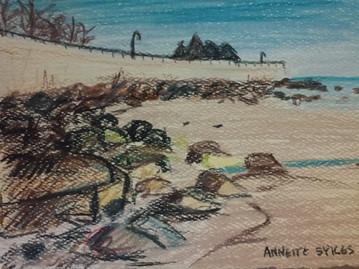 Deer Cove, Lynn, MA small Pencil color sketch