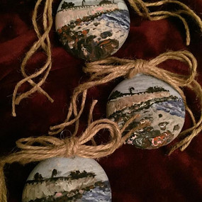 hand-painted ornaments Deer Cove, Lynn, MA Christmas 2017