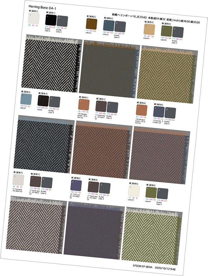 4Dbox PLANS テキスタイル印刷イメージ