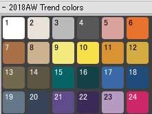 (サポートからのお知らせ)2018AW Trend color スウォッチデータが追加されました