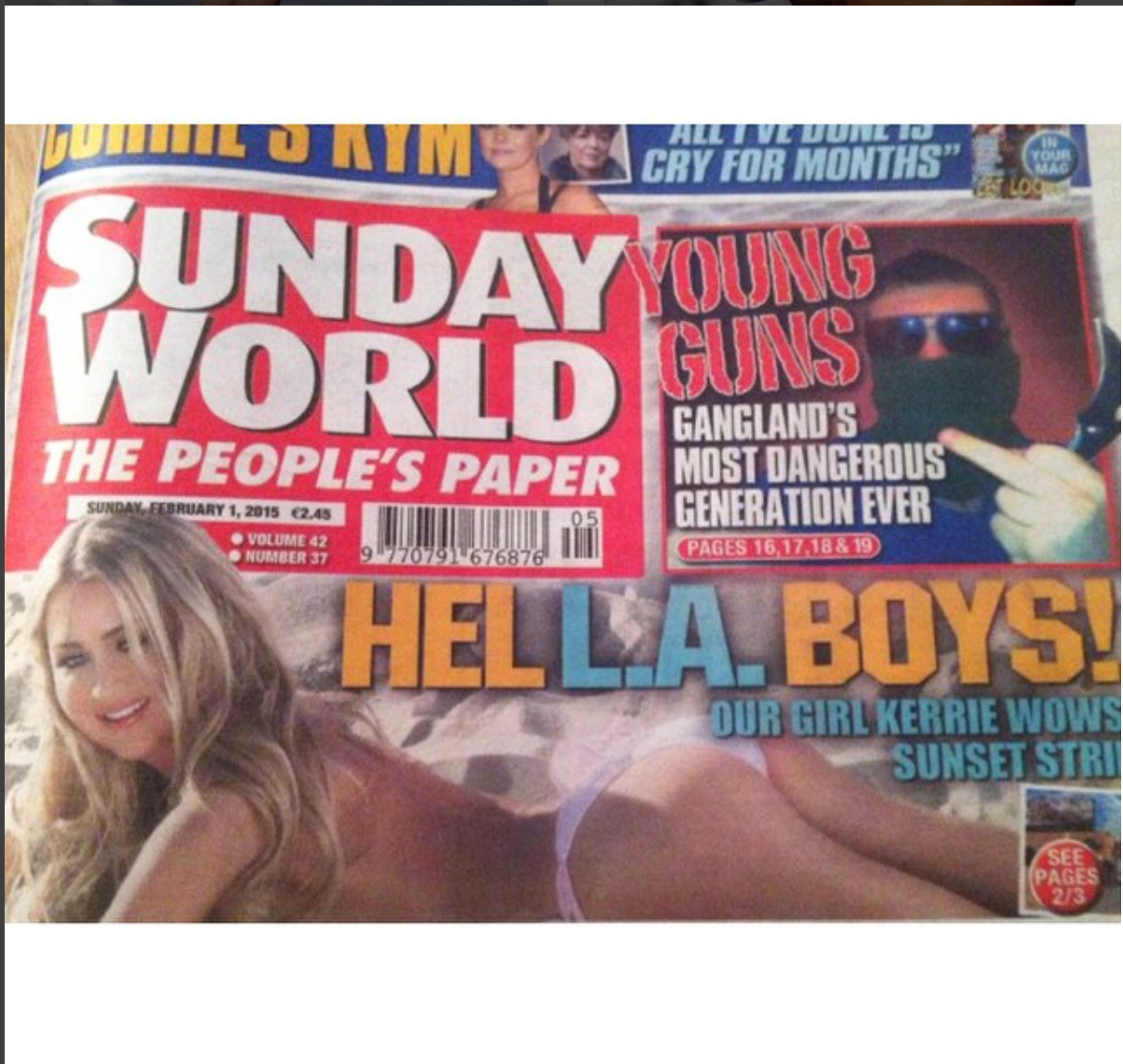 138 Water in Sunday World