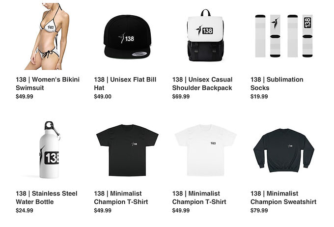 138 Merch | Online Store | Shopify