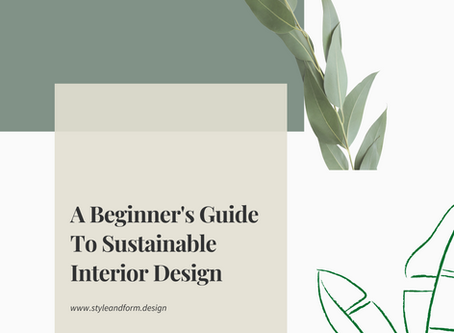 A Beginner's Guide To Sustainable Interior Design