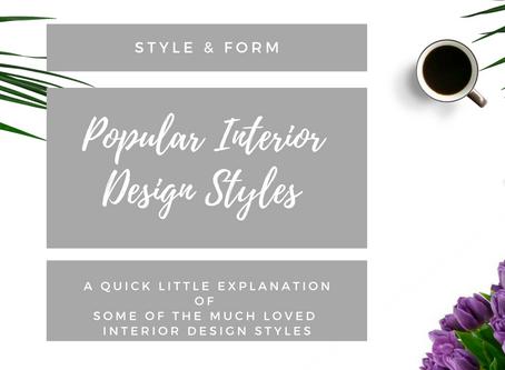Popular Interior Design Styles Explained