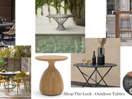 Shop The Look - Outdoor Tables Edition