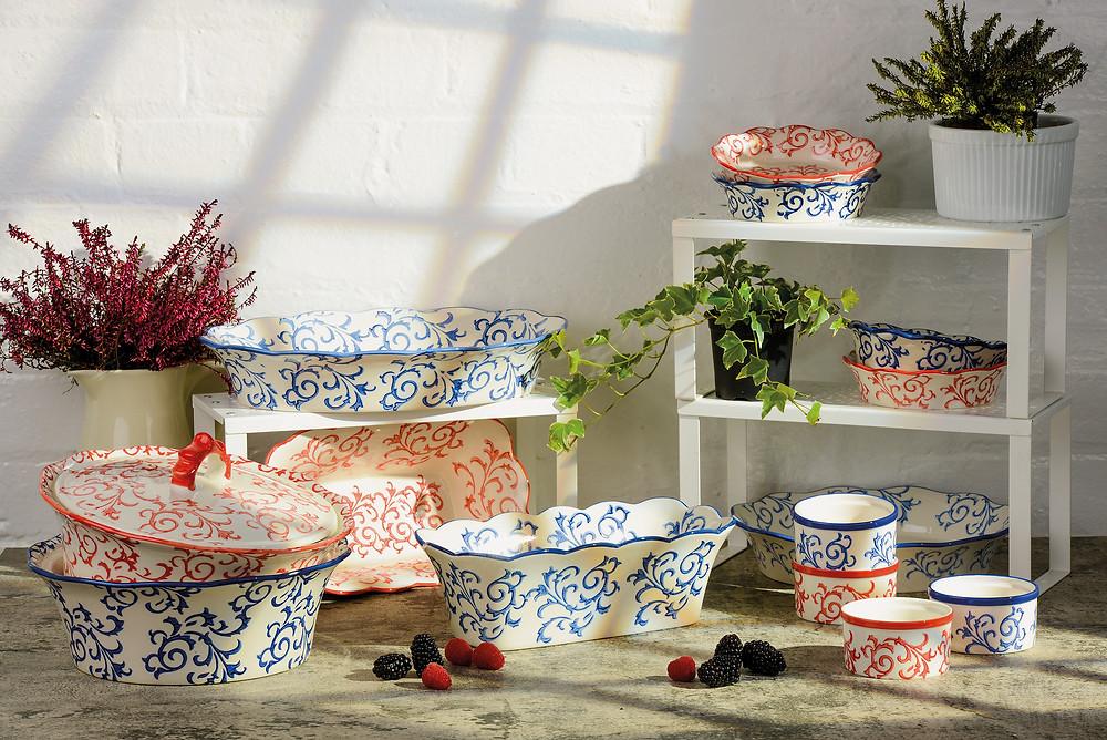 style and form interior design blog, light floral bowls