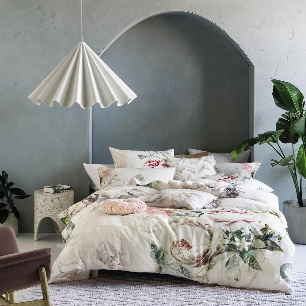 style and form interior design blog, floral bedding