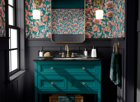 How To Design With Dark Florals
