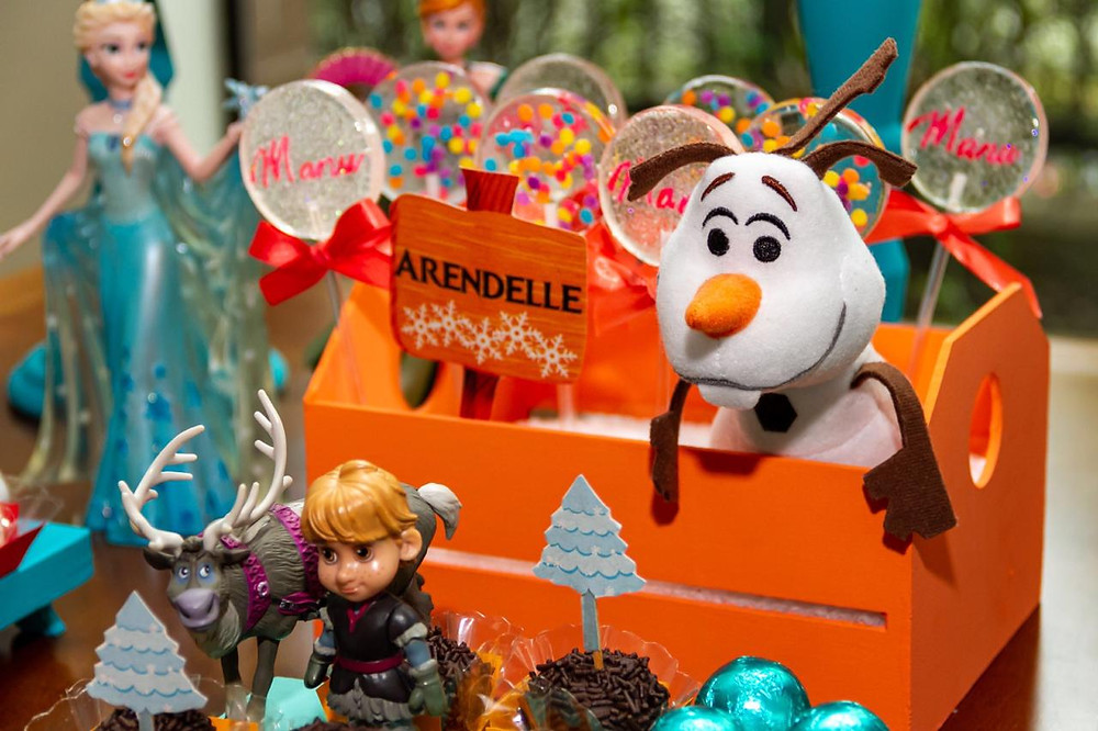 Decoração de festa infantil: dois temas - Frozen + Patrulha Canina
