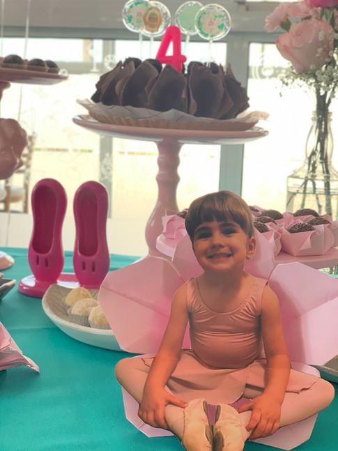 Decoração de festa infantil tema Bailarina
