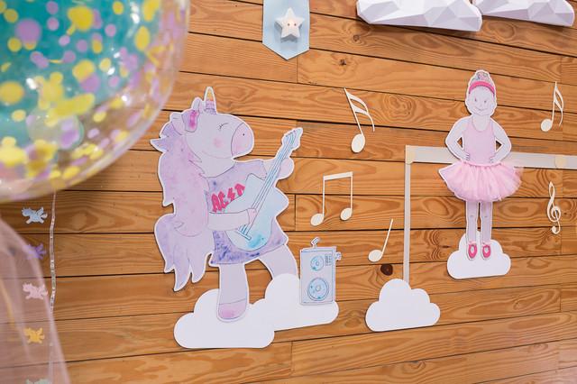 Decoração de festa infantil tema Unicórnio
