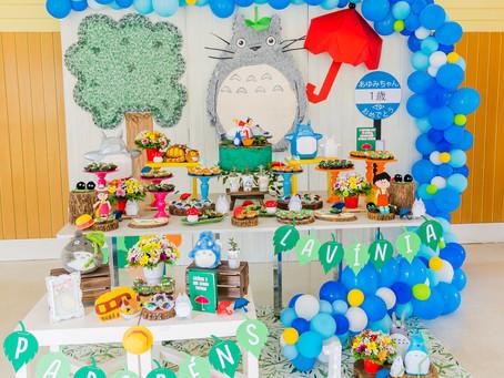 Decoração de festa infantil: tema Totoro