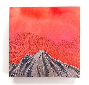 Pink Cotton Candy Sky Modern Mountain.JP