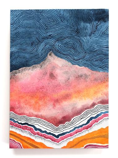 Blue Swirl Sky and Pink Mountain.JPG