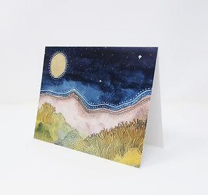 Full Moon Modern Landscape Folded Standi