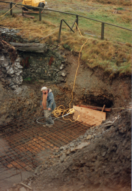 133. E. side of East stope capping, with