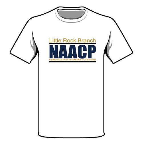 NAACP Little Rock Branch White T